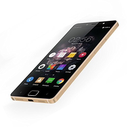 """Leagoo Elite 1 Android 5.1 Octa Core 3GB RAM 32GB ROM Mobile Cell Phone 4G LTE 5"""" Inch MTK6753 64bit 16MP CAM Touch ID Smartphone (Gold)"""