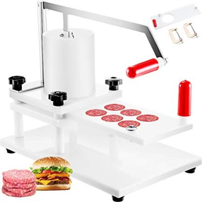 VBENLEM-Commercial-Burger-Patty-Maker-Dia-55mm215inch-and-130mm5inch-Hamburger-Press-Machine-PE-Material-with-Tabletop-Fixed-Desig-5inch-White