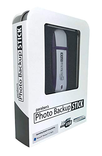 Photo Backup Stick 16GB - USB Drive Easy Picture and Video Backup for Windows Computers, iPhones, and Android Phones