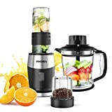 Smoothie Blender, High-Speed Personal Blender for Smoothies and Ice Shakes, 2019 Upgraded 3-in-1 Professional Blender for Mixer / Chopper / Grinder , With 19 Ounce Portable BPA-Free Bottle, 700 Watt
