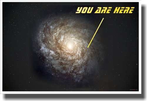 You Are Here - Galaxy - NEW Classroom Science Poster