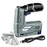 WORKPRO Cordless Staple Gun - 3.6V Electric Stapler, Rechargable 2000mAh Li-ion Battery, USB Charger, 1000-Pack JT21 Staples and 1000-Pack 15mm T Nails Included