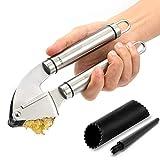 Garlic Press,X-Chef Stainless Steel Garlic Miner Crusher...