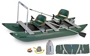 Sea Eagle Green 375FC Inflatable FoldCat Fishing Boat - Pro Angler Guide AMAZON Package