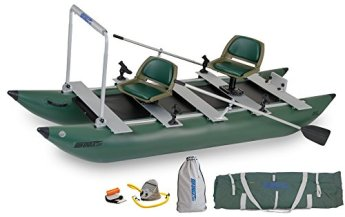 Sea Eagle Green 375FC Inflatable FoldCat Fishing Boat features