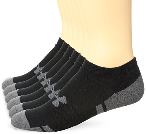 Under Armour Men's Resistor 3.0 No Show Socks, Large, Black/Graphite