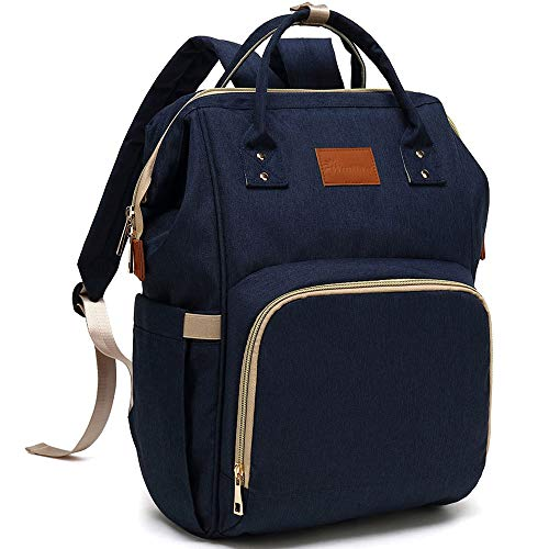 Baby Diaper Bag Backpack - Large Diaper Backpack for Mom Dad with Stroller Straps, Multi-Function, Waterproof, Stylish and Durable Travel Diaper Bags for Girls and Boys (Navy Blue)