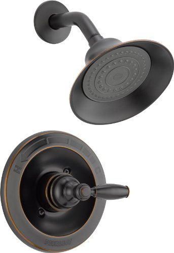 Peerless Claymore Single-Handle Shower Faucet Trim Kit with Single-Spray Shower Head, Oil-Rubbed Bronze PTT188780-OB (Valve Not Included)