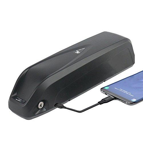 Joyisi Ebike Battery 52V 13AH Lithium ion Battery LG Cell with USB Port, Electric Bike Battery for 1000W Bike Motor (Black)