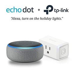 Echo Dot (3rd Gen) - Heather Gray with with TP-Link Smart Plug Mini
