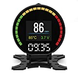 LEANINGTECH Car HUD OBD2 Heads Up Display Hud Digital Speedometer with OBD2/EUOBD Scanner Diagnostic Tool Engine Fault Code Reader CAN Speed RPM Speed Alarm