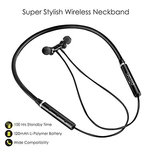 417VeM4rcsS pTron Tangentbeat Bluetooth 5.Zero Wi-fi Headphones with Deep Bass, Ergonomic Design, IPX4 Sweat/Waterproof Neckband, Magnetic Earbuds, Voice Assistant, Passive Noise Cancelation & Mic - (Black)