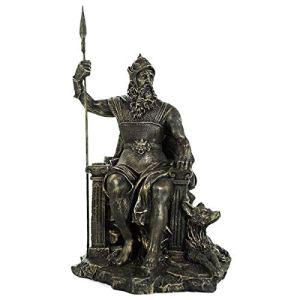 Estátua Odin Wotan Deus Nórdico Resina