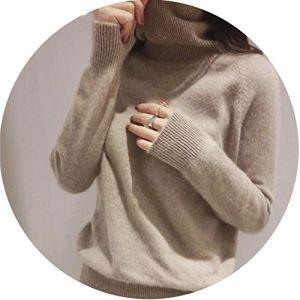 world-palm Winter Cashmere Sweater Women Pullovers Black Turtleneck Jumper Warm Thick Sweater