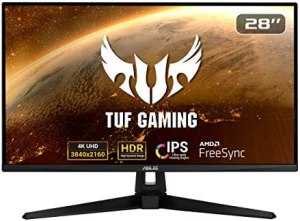 "ASUS TUF Gaming VG289Q1A 28"" HDR Monitor, 4K UHD (3840 x 2160), IPS, Adaptive-Sync/FreeSync, Eye Care, DisplayPort HDMI, DCI-P3 HDR 10, Shadow Boost"