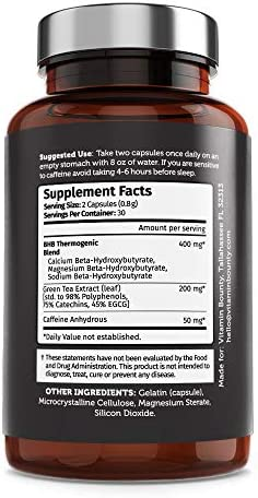 Burn on Keto - Keto Pills with BHB Beta Hydroxybutyrate Exogenous Ketones and Green Tea Extract 6