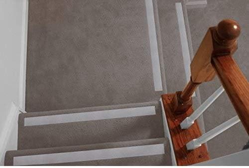 No Slip Strips Non Slip Safety Nosing For Carpeted Stairs   Non Slip Strips For Carpeted Stairs   Grip   Stair Nosing   Gravel   Slip Resistant   Brown Cinnamon