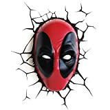 Marvel Lámpara 3D Máscara de Deadpool Lámpara