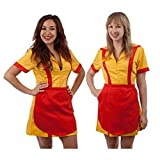 2 Broke Girls Max and Caroline Diner Waitress Costume (Large/X-Large)
