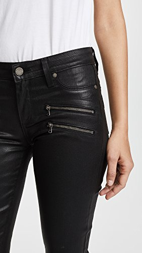 417g4n5ucKL Edgy jegging in leather-esque coated stretch denim featuring four zippers at hips Breathable Inseam: 30 inches