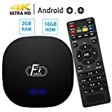 Android 8.1 TV Box, Dolamee 2GB RAM 16GB ROM TV Box Amlogic Quad Core Streaming Media Player with LED Display Support 4K 3D 2.4G WiFi for Home Entertainment