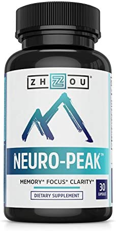 Neuro Peak Brain Support Supplement - Memory, Focus & Clarity Formula - Nootropic Scientifically Formulated for Optimal Performance - Dmae, Rhodiola Rosea, Bacopa Monnieri, Ginkgo Biloba & More 1