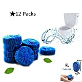 12 Pieces Antibacterial Blue Automatic Toilet Bowl Bathroom Cleaner Tablets NEW VERSION - lasts up to 36 weeks to 48 weeks