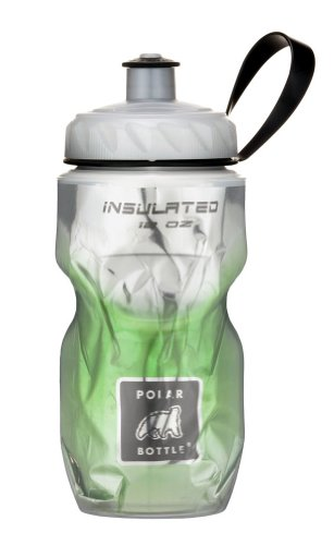 Polar Bottle Insulated Water Bottle (Green Fade) (12 oz) - 100% BPA-Free Water Bottle - Perfect Cycling or Sports Water Bottle - Dishwasher & Freezer Safe