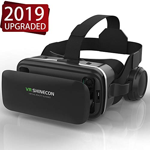 VR Headset,Virtual Reality Headset,VR SHINECON 3D VR Glasses for TV, Movies & Video Games - Virtual Reality Glasses VR Goggles Compatible with iOS, Android and Other Phones Within 4.7-6.0 inch