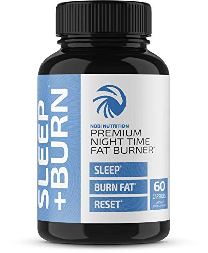 Night Time Fat Burner Pills - Weight Management Formula - Gentle Sleep Aid Supplement & Appetite Suppressant for Men and Women - 60 Diet Capsules