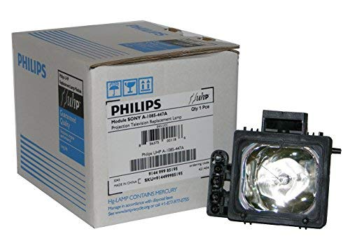 Original Philips Lamp/Bulb/Housing for Sony XL-2200, XL-2200U, A-1085-447-A. This lamp fits Sony models: KDF55WF655, KDF55XS955, KDF60WF655, KDF60XS955, KDFE55A20, KDFE60A20