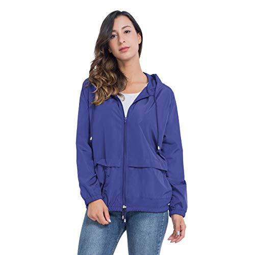 JTANIB Women's Lightweight Hooded Waterproof Raincoat Windbreaker Packable Active Outdoor Rain Jacket 18 Fashion Online Shop gifts for her gifts for him womens full figure