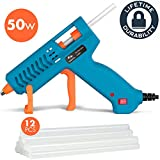 Hot Glue Gun 50W Tilswall Mini Melt Gun Heats Up Quickly with 12pcs 130mm Glue Sticks Kit, 3 Patents Design, ON-Off Switch for Art, Kids Craft, Sealing, DIY, Home Repairs, Card, Wood, Glass