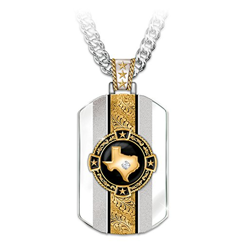 Bradford Exchange Texas Pride 24K Gold-Plated Pendant Necklace by The