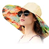 Women's Rain Hats Waterproof Rain Hat Wide Brim Bucket Hat Rain Cap Sun Hats (Gold)
