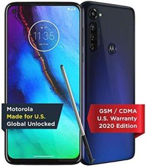 Moto G Stylus | Unlocked | Made for US by Motorola | 4/128GB | 48MP Camera | 2020 | Indigo (Renewed)