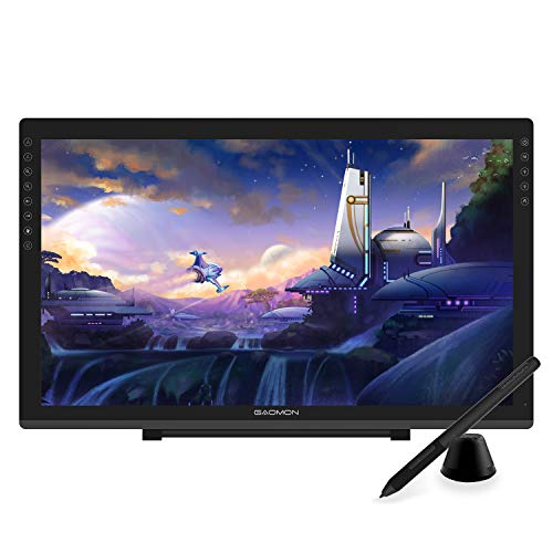GAOMON-PD2200-Full-Laminated-Tilt-Support-92-NTSC-Pen-Display-with-8-Touch-Buttons-215-Inch-HD-Drawing-Monitor-with-8192-Passive-Pen-and-Adjustable-Stand