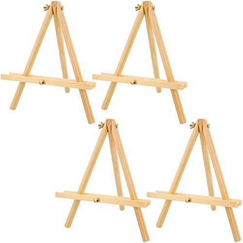 US Art Supply 12 inch Tall Tripod Easel Natural Pine Wood (Pack of 4 Easels)