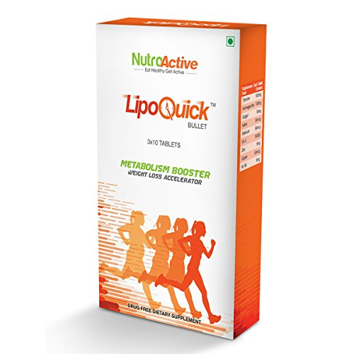 Nutroactive Lipoquick Bullet Fat Burner, Metabolism Booster – 30 Tablets
