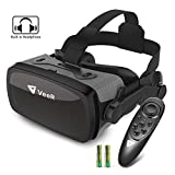 VeeR VR Falcon Headset with Controller, Universal Virtual Reality Goggles to Comfortable Watch 360 Movies for Android, Samsung Galaxy S9 & Note 9, Huawei and iPhone XR & Xs Max