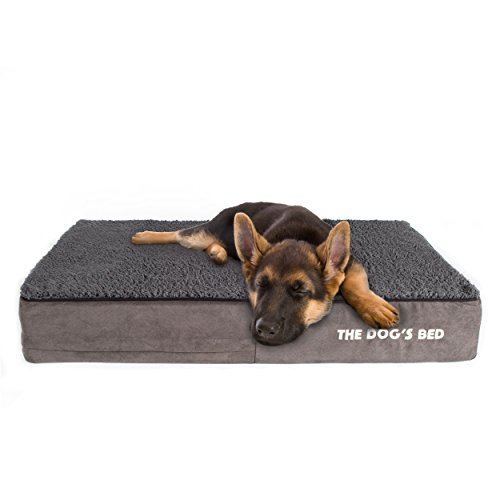 The Dog's Bed Orthopedic Dog Bed, Premium Memory Foam Dog Beds, Waterproof, Eases Pet Arthritis, Hip Dysplasia & Post Op Pain, Quality Therapeutic & Supportive Bed, Washable Covers