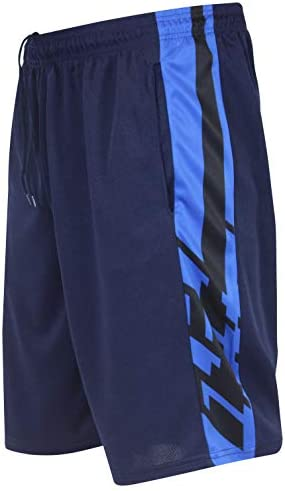 Real Essentials Men's Active Athletic Performance Shorts with Pockets - 5 Pack 3