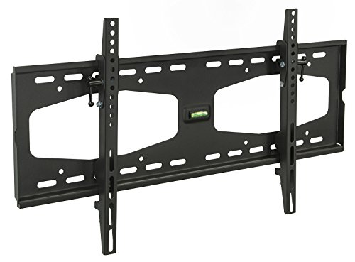 Mount-It! Tilting TV Wall Mount for 32' 40' 47' 50' 55' Samsung, Sony, Vizio, LG, Sharp TVs with Low Profile Design up to VESA 600x400mm, Black