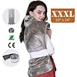 Heating pad, Heating pad for Back Pain, Ultra-Large, Auto Shut Off, Fast Heating Technology, Six Heat Settings, Machine-Washable, Micro Plush/Soft Touch, Elastic Band and Storage Bag Included