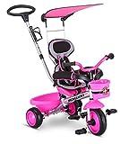 Schwinn Easy Steer 4 in 1 Tricycle, Pink (Renewed)