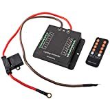 BUNKER INDUST Wiring Control Box Wiring Hamess Kit with Fuse Relay and FREE Wireless Remote Control - Electronic 8 Relay System Module Source Control System for up to 8 Accessories and LED Light Bars