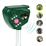 FAYINWBO solar waterproof outdoor animal repeller for cats, dogs, squirrels, moles, raccoons, etc. Motion sensor flash insect repeller. Protect garden, lawn