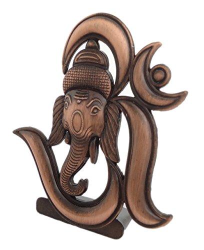 41899JsQz7L Sr Collection Bk Creation Antique Look Bronze Lord Om Ganesha Idol For Car Dashboard - Home Decore (Bk-027)