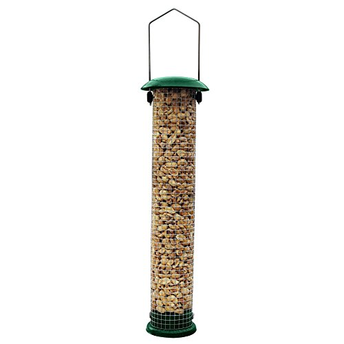 Gray Bunny GB-6857 Premium Steel Sunflower Seed Feeder and Peanut Feeder, 15' Tall, Wild Bird Feeder for Woodpeckers, Titmice, Nuthatches, Chickadees, Jays and More!