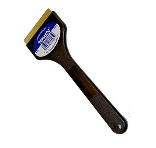 C J Industries F101 Fantastic Ice Scraper with Brass Blade, Black